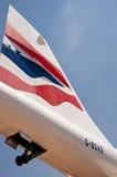 Ailette d'arrière de Concorde Images stock
