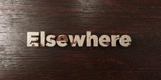 Ailleurs - titre en bois sale sur l'érable - 3D a rendu l'image courante gratuite de redevance illustration libre de droits