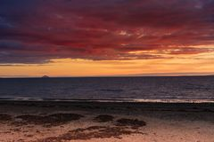 Ailsa craig from afar Stock Image