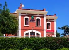 Ailway station in Sant Joan Despi. Barcelona royalty free stock image