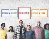 Aim Ambition Challenge Overcome Goal Concept Stock Image