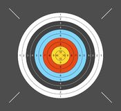 Aim for archery, crossbow, on dark background. Vector illustration for your designs. royalty free illustration