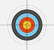 Aim for archery, crossbow, on white background. Vector illustration for your designs. stock illustration
