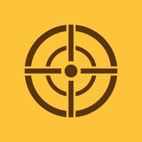The aim bag icon. Crosshair and target, sight, sniper symbol. Flat Royalty Free Stock Photography