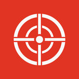 The aim bag icon. Crosshair and target, sight, sniper symbol. Flat Stock Photos