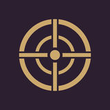 The aim bag icon. Crosshair and target, sight, sniper symbol. Flat Royalty Free Stock Photos