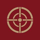 The aim bag icon. Crosshair and target, sight, sniper symbol. Flat Royalty Free Stock Images