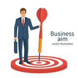 Aim in business concept. Stock Photo