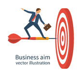 Aim in business. Vector Stock Photo