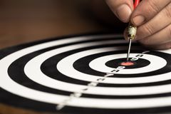 Aim at the Center Point royalty free stock photography