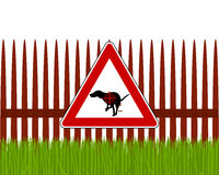 Aim at dogs crapping. Detailed and accurate illustration of aim at dogs crapping Royalty Free Stock Images