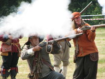 re-enactment British civil war Royalty Free Stock Photography