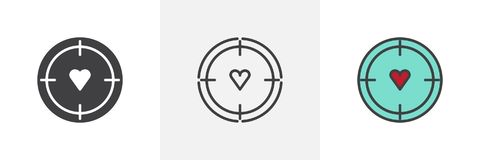Aim with heart different style icons Stock Photo