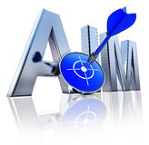 AIM icon. High resolution 3D rendering of a aim icon Stock Photography