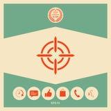 Aim icon symbol. Element for your design Stock Photos
