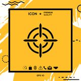 Aim icon symbol. Element for your design Royalty Free Stock Images