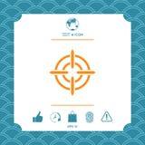 Aim icon symbol. Element for your design Stock Photo