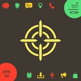 Aim icon symbol. Element for your design. . Signs and symbols - graphic elements for your design Royalty Free Stock Image
