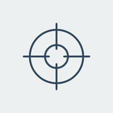 Aim icon. Target symbol. Crosshair. Vector illustration. Aim icon. Target symbol. Crosshair. Silhouette vector illustration Stock Photography