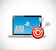 Aim laptop target illustration design Royalty Free Stock Images