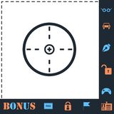 Aim icon flat. Aim. Perfect icon with bonus simple icons royalty free illustration