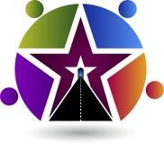 Aim star logo Stock Photos