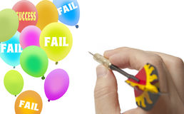 Aim success balloon Stock Photo