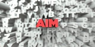 AIM - Texto rojo en fondo de la tipografía - 3D rindió imagen común libre de los derechos Imagen de archivo libre de regalías