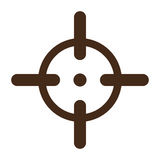 Aim to fire the gun accurately icon image Royalty Free Stock Images