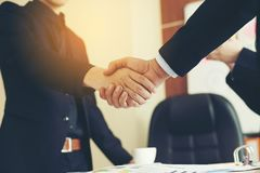 The aim is to succeed in doing business. Financial Business Conference And work unity. Teamwork is good stock images