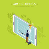 Aim to success Royalty Free Stock Image