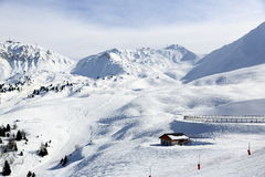 Aima 2000, Winter landscape in the ski resort of La Plagne, France Stock Images