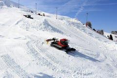 Aima 2000, Winterlandschaft im Skiort von La Plagne, Frankreich Stockfotografie