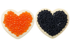 Aimant avec le caviar photos stock