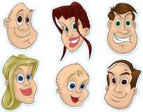 Aimant de réfrigérateur de visage/collants de sourire #3 Photo libre de droits
