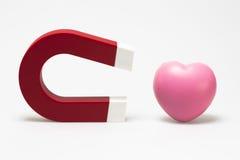 Aimant et coeur Image libre de droits