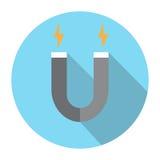 Aimant et icône de l'électricité Images libres de droits