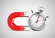 Aimant - gestion du temps Images libres de droits