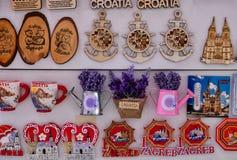 Aimants croates de réfrigérateur de souvenir photographie stock libre de droits