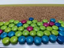 Aimants de couleur photographie stock