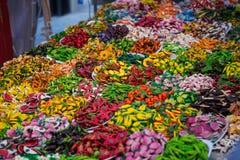 Aimants de cuisine en peu d'Italie Images libres de droits