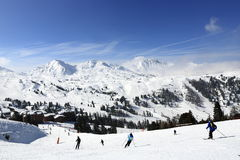 Aime 200, winter landscape in the ski resort of La Plagne, France Stock Photography