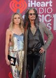 Aimee Preston, Steven Tyler. Aimee Preston and Steven Tyler at the 2019 iHeartRadio Music Awards held at the Microsoft Theater in Los Angeles, USA on March 14 stock photography