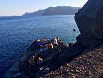 Aimer de Santorini Images libres de droits