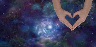 Aimer l'univers illustration stock