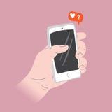 Aimer le concept social d'illustration de media illustration de vecteur
