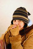 Aimer le froid Image libre de droits
