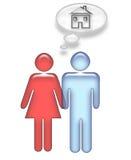 Aimer/ménage marié à la maison illustration stock
