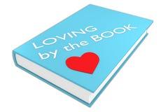 Aimer par le concept de livre illustration stock