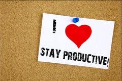 Aimer productif de productivité d'efficacité de concentration de signification de concept de séjour d'amour de l'apparence I d'in Photographie stock